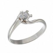 Δαχτυλίδι Μονόπετρο με Διαμάντι Λευκόχρυσος Κ18 - 064003R