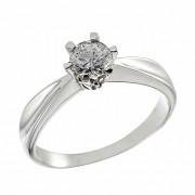 Δαχτυλίδι Μονόπετρο με Διαμάντι Λευκόχρυσος Κ18 - 064011R
