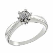 Δαχτυλίδι Μονόπετρο με Διαμάντι Λευκόχρυσος Κ18 - 064015R