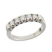 Δαχτυλίδι Μισόβερο με Διαμάντια Λευκόχρυσος Κ18 - 070007R