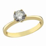 Δαχτυλίδι Μονόπετρο με Ζιργκόν Χρυσός Κ14 - 07125