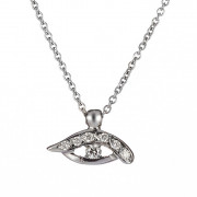 Μενταγιόν με Διαμάντια Λευκόχρυσος Κ18 - 09014