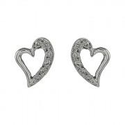 Σκουλαρίκια με Διαμάντια Λευκόχρυσος Κ18 - 09034