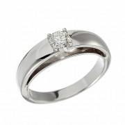 Δαχτυλίδι Μονόπετρο με Διαμάντι Λευκόχρυσος Κ18 - 09037