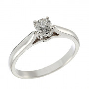 Δαχτυλίδι Μονόπετρο με Διαμάντι Λευκόχρυσος Κ18 - 110281R
