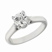 Δαχτυλίδι Μονόπετρο με Διαμάντι Λευκόχρυσος Κ18 - 11030
