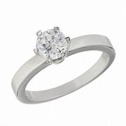 Δαχτυλίδι Μονόπετρο με Διαμάντι Λευκόχρυσος Κ18 - 11057