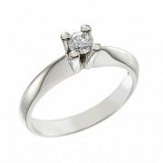 Δαχτυλίδι Μονόπετρο με Διαμάντι Λευκόχρυσος Κ18 - 11303F