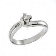 Δαχτυλίδι Μονόπετρο με Διαμάντι Λευκόχρυσος Κ18 - 11393J