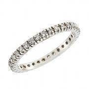 Δαχτυλίδι Ολόβερο με Διαμάντια Λευκόχρυσος Κ18 - 91219