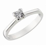 Δαχτυλίδι Μονόπετρο με Ζιργκόν Λευκόχρυσος Κ14 - 92200