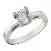 Δαχτυλίδι Μονόπετρο με Ζιργκόν Λευκόχρυσος Κ14 - 92227