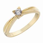 Δαχτυλίδι Μονόπετρο με Ζιργκόν Χρυσός Κ14 - 92233