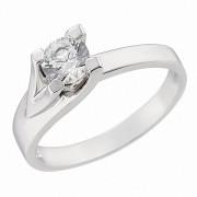 Δαχτυλίδι Μονόπετρο με Ζιργκόν Λευκόχρυσος Κ14 - 92257