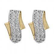 Σκουλαρίκια με Ζιργκόν Χρυσός Κ14 - 08188