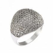 Δαχτυλίδι με Ζιργκόν Λευκόχρυσος Κ14 - 08207