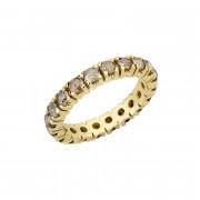 Δαχτυλίδι Ολόβερο με Rose Cut Καφέ Διαμάντια Χρυσός Κ18 - 92104R