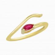 Δαχτυλίδι Chevalier με Ορυκτή Πέτρα Χρυσός Κ14 - 16013YRU