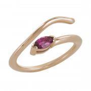 Δαχτυλίδι Chevalier με Ορυκτή Πέτρα Ροζ Χρυσός Κ14 - 16013PPSA
