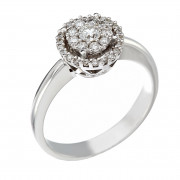 Δαχτυλίδι με Διαμάντια Λευκόχρυσος Κ18 - 10071R
