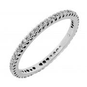 Δαχτυλίδι Ολόβερο με Ζιργκόν Λευκόχρυσος Κ14 - 11053W