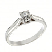 Δαχτυλίδι Μονόπετρο με Διαμάντι Λευκόχρυσος Κ18 - 110282R