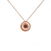 Μενταγιόν με Ζιργκόν Ροζ Χρυσός Κ14 - 11047