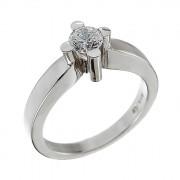 Δαχτυλίδι Μονόπετρο με Διαμάντι Λευκόχρυσος Κ18 - 11299C