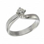 Δαχτυλίδι Μονόπετρο με Διαμάντι Λευκόχρυσος Κ18 - 11390K