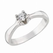Δαχτυλίδι Μονόπετρο με Ζιργκόν Λευκόχρυσος Κ14 - 92203