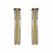 Σκουλαρίκια Δίχρωμα Κ14 - 09114