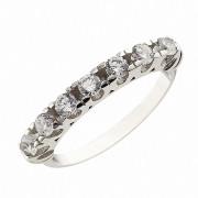 Δαχτυλίδι Μισόβερο με Ζιργκόν Λευκόχρυσος Κ14 - 08222