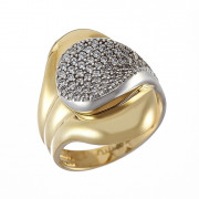 Δαχτυλίδι με Ζιργκόν Δίχρωμο Κ14 - 09146
