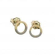 Σκουλαρίκια με Ζιργκόν Χρυσός Κ14 - 03E013