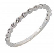 Δαχτυλίδι Μισόβερο με Ζιργκόν Λευκόχρυσος Κ9 - 16060