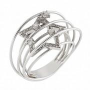 Δαχτυλίδι με Διαμάντια Λευκόχρυσος Κ18 - 0350
