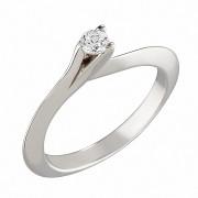 Δαχτυλίδι Μονόπετρο με Διαμάντι Λευκόχρυσος Κ18 - 04152