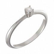 Δαχτυλίδι Μονόπετρο με Διαμάντι Λευκόχρυσος Κ18 - 053651R