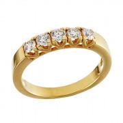 Δαχτυλίδι Μισόβερο με Διαμάντια Χρυσός Κ18 - 07000Y5R