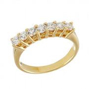 Δαχτυλίδι Μισόβερο με Διαμάντια Χρυσός Κ18 - 07017Y
