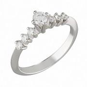 Δαχτυλίδι με Διαμάντια Λευκόχρυσος Κ18 - 07018