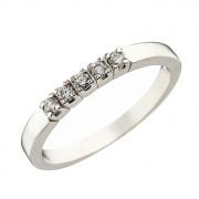 Δαχτυλίδι Μισόβερο με Ζιργκόν Λευκόχρυσος Κ14 - 07120