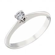 Δαχτυλίδι Μονόπετρο με Ζιργκόν Λευκόχρυσος Κ14 - 07127