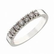 Δαχτυλίδι Μισόβερο με Ζιργκόν Λευκόχρυσος  Κ14 - 07139