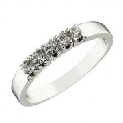 Δαχτυλίδι Μισόβερο με Ζιργκόν Λευκόχρυσος Κ14 - 07140