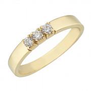 Δαχτυλίδι Μισόβερο με Ζιργκόν Χρυσός Κ14 - 07141Y