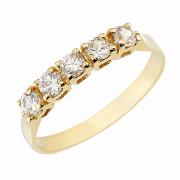 Δαχτυλίδι Μισόβερο με Ζιργκόν Χρυσός Κ14 - 07147Y