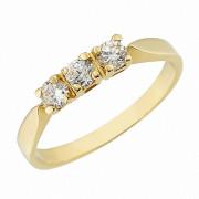 Δαχτυλίδι Μισόβερο με Ζιργκόν Χρυσός Κ14 - 07148Y