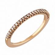 Δαχτυλίδι Μισόβερο με Διαμάντια Ροζ Χρυσός Κ18 - 08162RE