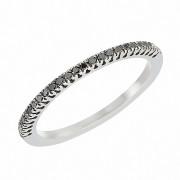 Δαχτυλίδι Μισόβερο με Μαύρα Διαμάντια Λευκόχρυσος Κ18 - 08162BL